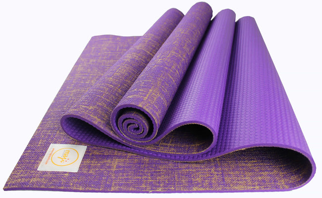Jute Premium ECO Fitness, pilates, Yoga Mat + Foot Massager - 7.5 X 17.5 cm