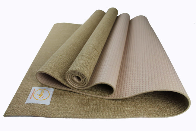 Jute Premium ECO Fitness, pilates, Yoga Mat + Foot Massager - 6.5 cm X 16 cm