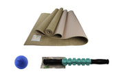 Jute ECO Yoga Mat + Massage Stick + Trigger Point Ball