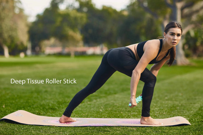 CUSTOMIZE YOUR OWN ECO-SUEDE + NATURAL RUBBER FITNESS & YOGA MAT + MUSCLE RECOVERY & 3 PACK RESISTANCE BAND BUNDLE