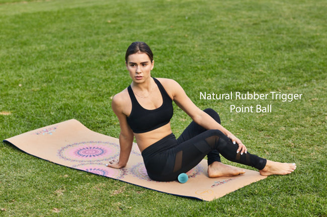 Jute Premium ECO Fitness, pilates, Yoga Mat + Muscle recovery Bundle