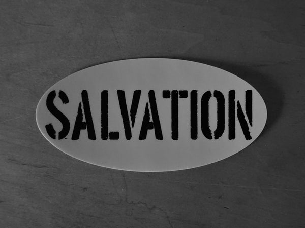 Oval Salvation Sticker