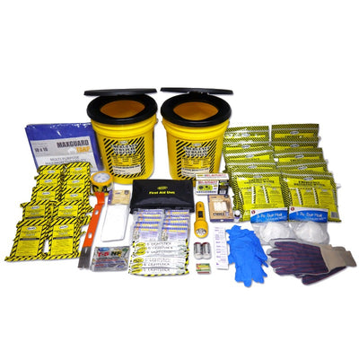 Two Toilet Buckets Emergency Kit - Deluxe (10 Person)-Emergency Kit-PEGlala.com