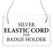"28"" Silver Elastic Cord Lanyard for Badge Holder-Badge-PEGlala.com"