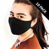 3 Layer Antibacterial Face Mask - Black (Qty Discount)-Face Mask-MASKlala-10 PACK BLACK-PEGlala.com