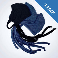 3 Layer Antibacterial Face Mask - Black (Qty Discount)-Face Mask-MASKlala-3 PACK ASSORTED (1 BLACK/2 CHARCOAL)-PEGlala.com