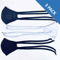 3 Layer Antibacterial Face Mask - White (Qty Discount)-Face Mask-MASKlala-3 PACK ASSORTED (1 WHITE/2 CHARCOAL)-PEGlala.com