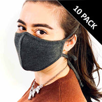 3 Layer Antibacterial Face Mask - Charcoal (Qty Discount)-Face Mask-MASKlala-10 PACK CHARCOAL-PEGlala.com