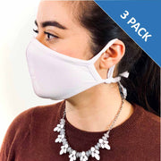 3 Layer Antibacterial Face Mask (White) Qty Discount-Face Mask-MASKlala-3 PACK WHITE-PEGlala.com