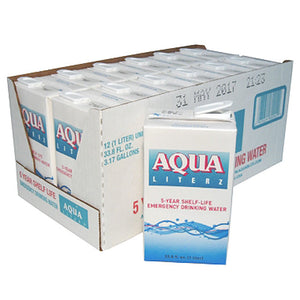 Aqua Literz 5 Year Emergency Drinking Water 33.8 oz (24 Units)-Emergency Kit Refill-PEGlala.com