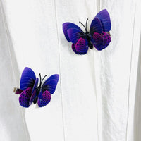 Style B - Purple Butterfly Hair Clips (2 pcs/set) PEGlala.com