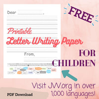 (Digital) Printable Letter Writing Paper Visit JW.org - Skip-A-Line Ruled for Children  PEGlala PDF peglala-com.myshopify.com PEGlala.com