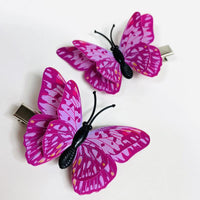 Style D - Lavender Pink Butterfly Hair Clips (2 pcs/set) PEGlala.com
