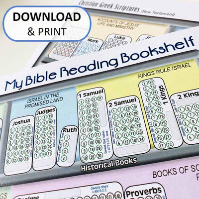 Download and Print My Bible Reading Bookshelf Digital File