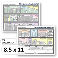 Download and Print My Bible Reading Bookshelf Digital File Letter Size 8.5 x 11