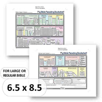 Download and Print My Bible Reading Bookshelf Digital File for Regular and Large Bible
