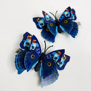 Dark Blue Butterfly Hair Clips (2 pcs/set) Style E - PEGlala.com