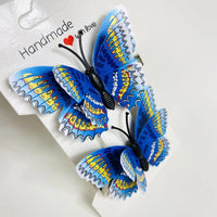 Blue Butterfly Hair Clips (2 pcs/set) Style F - PEGlala.com