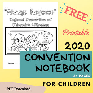 (Digital) Regional Convention Notebook for Kids - 2020 Always Rejoice