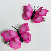 Pink Butterfly Hair Clips (2 pcs/set) Style H -PEGlala.com