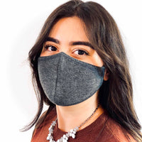 3 Layer Antibacterial Face Mask - Charcoal (Qty Discount)-Face Mask-MASKlala-3 PACK CHARCOAL-PEGlala.com