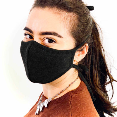 3 Layer Antibacterial Face Mask - Black-Face Mask-MASKlala-PEGlala.com