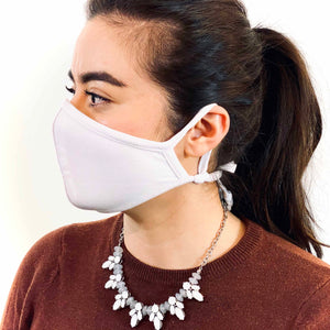 3 Layer Antibacterial Face Mask (White)-Face Mask-MASKlala-PEGlala.com