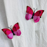 Pink Red Butterfly Hair Clips (2 pcs/set) Style J -PEGlala.com