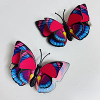 Style K - Red Blue Butterfly Hair Clips (2 pcs/set) PEGlala.com