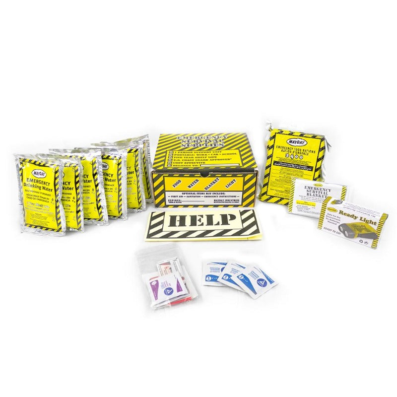 Basic Emergency Kit w/First Aid & Flashlight (3 Day) [3 Boxes]-Emergency Kit-PEGlala.com