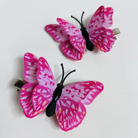 Style L - Pink Butterfly Hair Clips (2 pcs/set) PEGlala.com