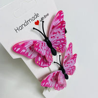 Pink Butterfly Hair Clips (2 pcs/set) Style L -PEGlala.com