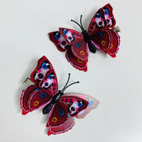 Style M - Dark Red Butterfly Hair Clips (2 pcs/set) PEGlala.com
