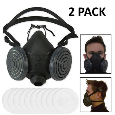 R-95 Half-Mask Respirator (2 Pack)-Pandemic Supplies-Mayday-PEGlala.com