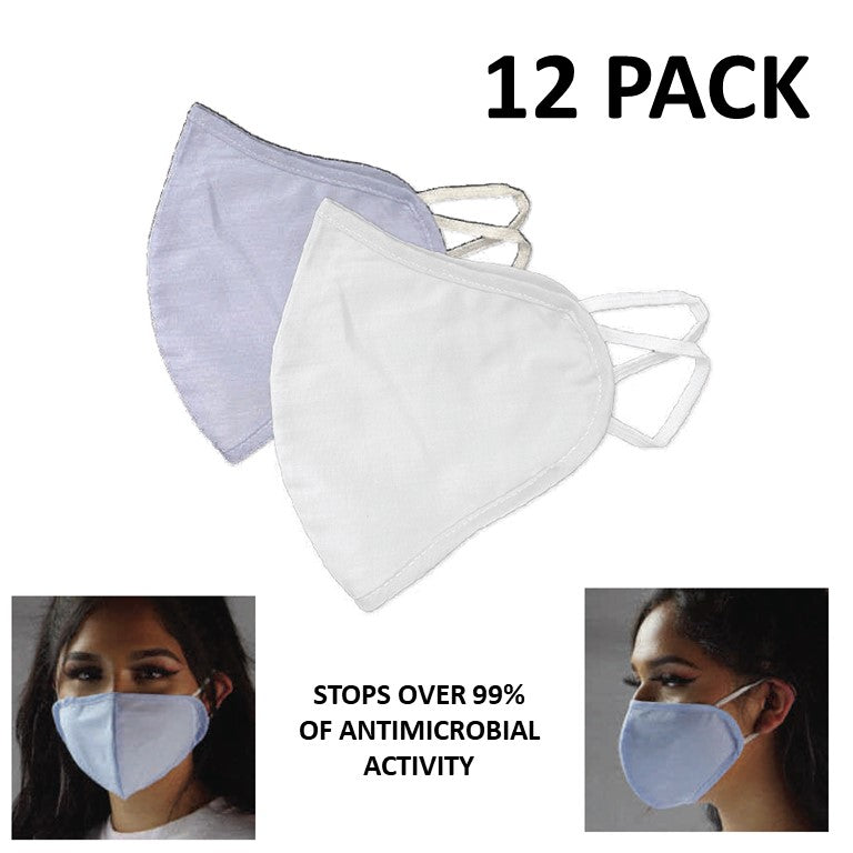 2-Ply Ear Loop Cloth CE Antimicrobial Masks (12 Pack)-Pandemic Supplies-Mayday-PEGlala.com