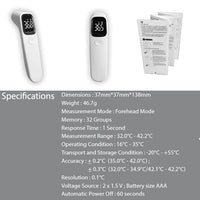 Infrared No-Contact Forehead Thermometer