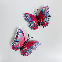 Style N - Red White Blue Butterfly Hair Clips (2 pcs/set) PEGlala.com