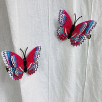 Red White Blue Butterfly Hair Clips (2 pcs/set) Style N -PEGlala.com