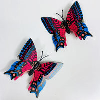 Style O - Red Blue Butterfly Hair Clips (2 pcs/set) PEGlala.com