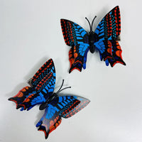 Style P - Blue Orange Butterfly Hair Clips (2 pcs/set) PEGlala.com