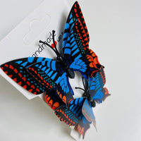 Blue Orange Butterfly Hair Clips (2 pcs/set) Style P - PEGlala.com