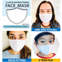 3 Layer Antibacterial Face Mask - White-Face Mask-MASKlala-PEGlala.com