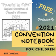2021 Regional Convention Powerful by Faith Notebook for Children FREE Download