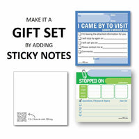 Matthew 28:19 Blue Pen 2020 Year Text Add Sticky Notes Gift Set - PEGlala.com