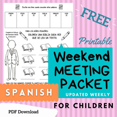 (Digital) Weekend Meeting Packet 2021 SPANISH  Gigi Navarro PDF peglala-com.myshopify.com PEGlala.com