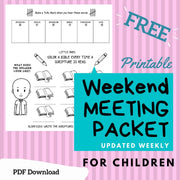 (Digital) Weekend Meeting Packet 2020  Gigi Navarro PDF peglala-com.myshopify.com PEGlala.com