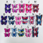 16 Styles of assorted purple lavender red blue Butterfly Hair Clips (2 pcs/set) PEGlala.com