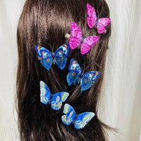 Lavender & Blue Butterfly Hair Clips (2 pcs/set) Styles DEF - PEGlala.com
