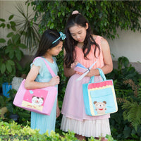 Cartoon Shoulder Bag w/ Pocket - Rabbit (Peach Pink)-Bag-PEGlala-PEGlala.com