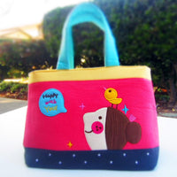 Children's Tote - Bird (Pink)-Bag-PEGlala-PEGlala.com